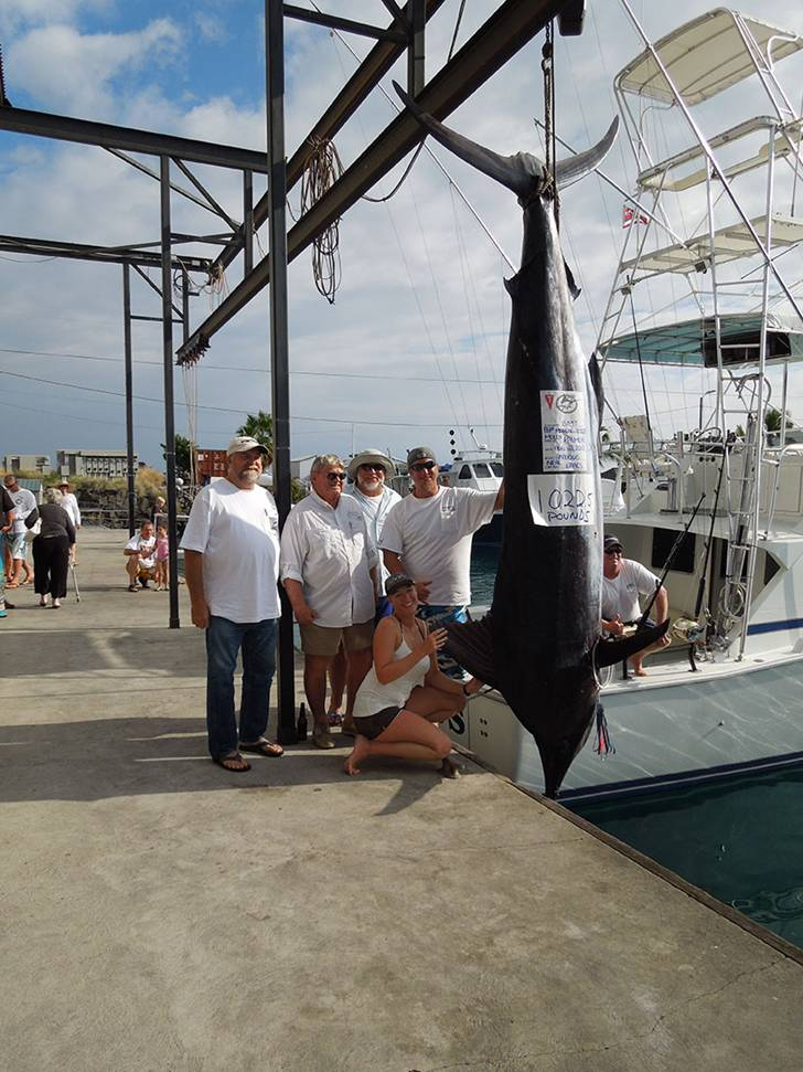 Oversea Insurance client catches 1022 pound marlin